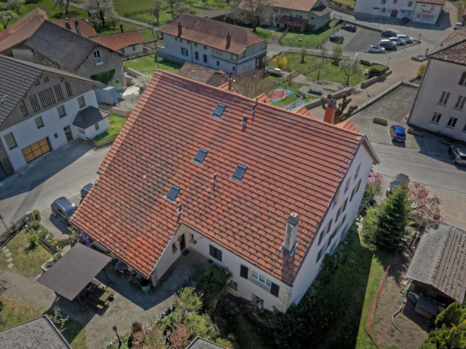Grand reconstruction de toit